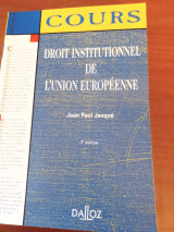 Droit institutional de l union Europeenne