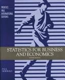Statistics for Business & Economics
