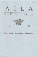 AILA review 10. Case studies in Minority Languages