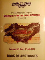 Chemistry for cultural heritage, Book of Abstracts