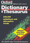 The Oxford Minireference Dictionary and Thesaurus