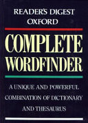 The Reader's Digest Oxford Complete Wordfinder